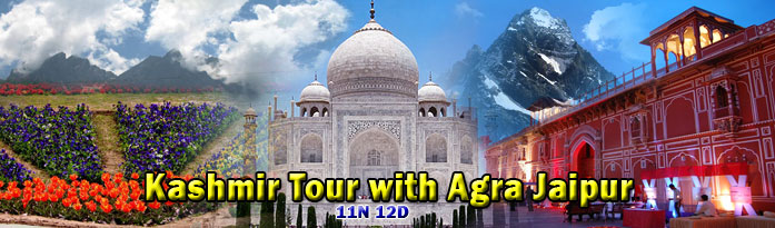 Hot Deal on Kashmir with Agra Jaipur Tour